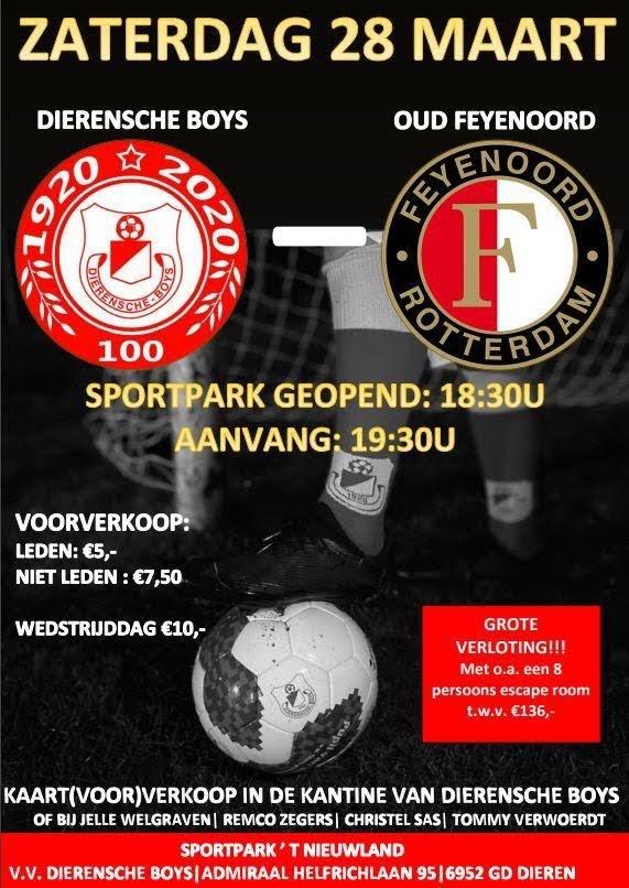 v.v. Dierensche Boys - oud Feyenoord (zaterdag 28 maart 2020)